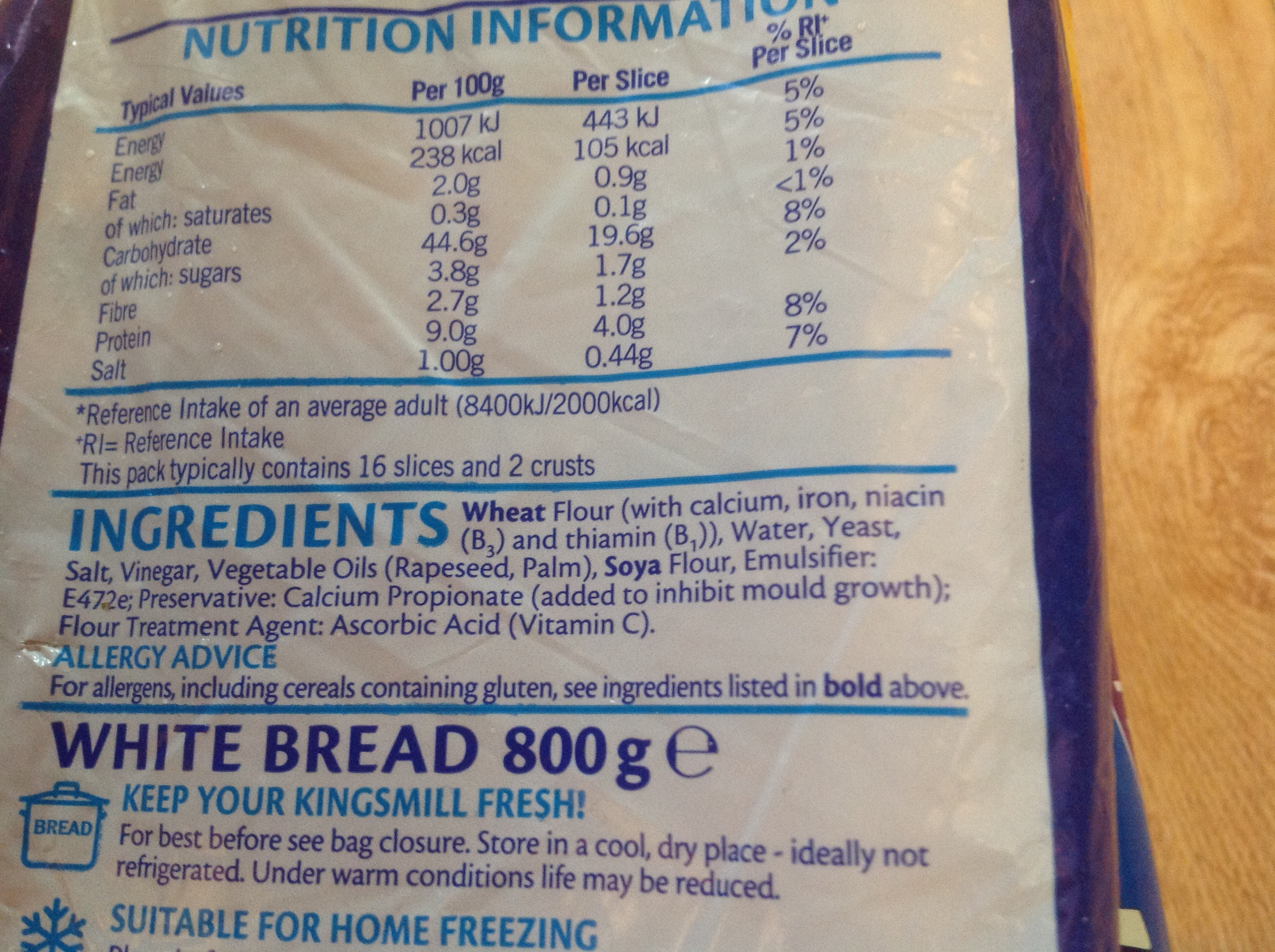 White Bread Ingredients Label Pictures To Pin On Pinterest
