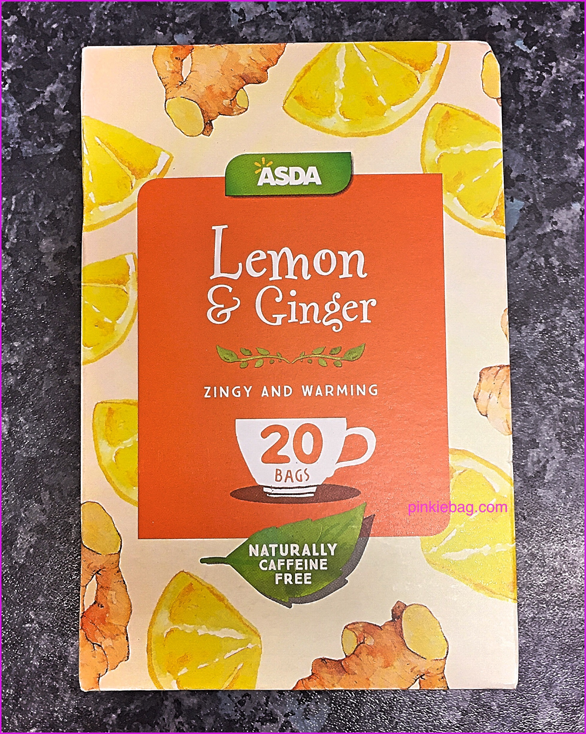 review of asda lemon and ginger tea pinkiebag. Black Bedroom Furniture Sets. Home Design Ideas